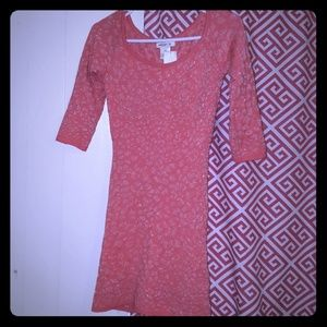 Coral (gold accents) dress